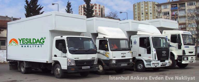 İstanbul Ankara Evden Eve Nakliyat Araçları, İstanbul Ankara Ev Taşıma Aracı, Paketlemeli Ev Taşıma Araçları