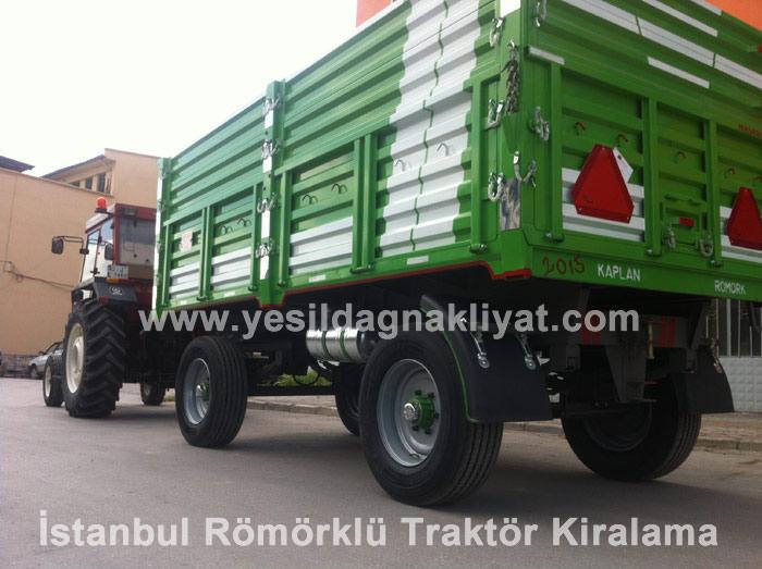 İstanbul Römörklü Traktör Kiralama, Traktor Kiralama Fiyatı