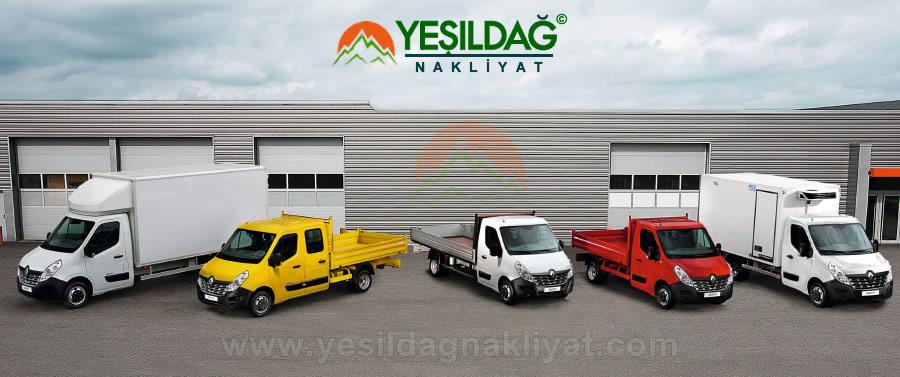 Karaköy Yeşildağ Nakliyat Firmasının Hizmet Taşıma Araçları