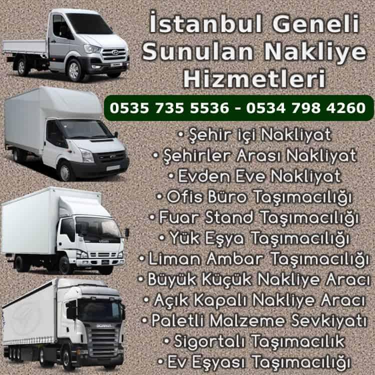 İstanbul Anadolu Yakası Nakliyeciler Durağı - Nakliye Hizmetleri